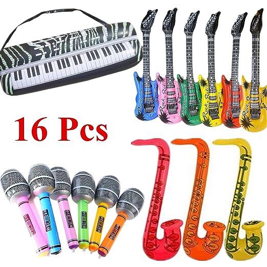 STOBOK 16 pcs hinchables Instruments de Música Rock Banda ...