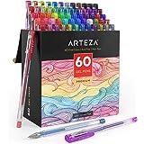 Arteza Gel Pens, Set of 60-Individual-Colors, 0.8-1.0 mm Tips, Acid-Free & Non-Toxic, Art Supplies for Journaling, Doodling,