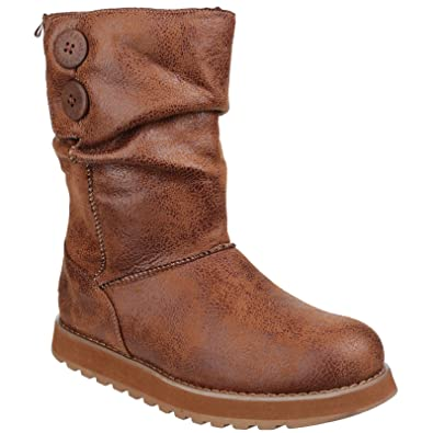 Skechers Womens Chestnut Boots Leather Boot Keepsakes Esque