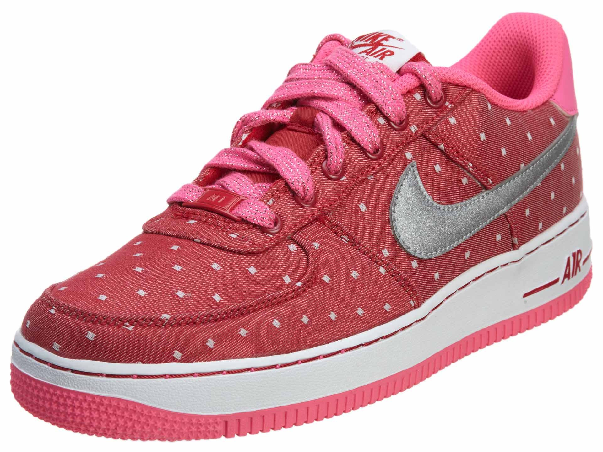 Nike Air Force 1 Big Kids Girls Court Sneakers Shoes Pink Size