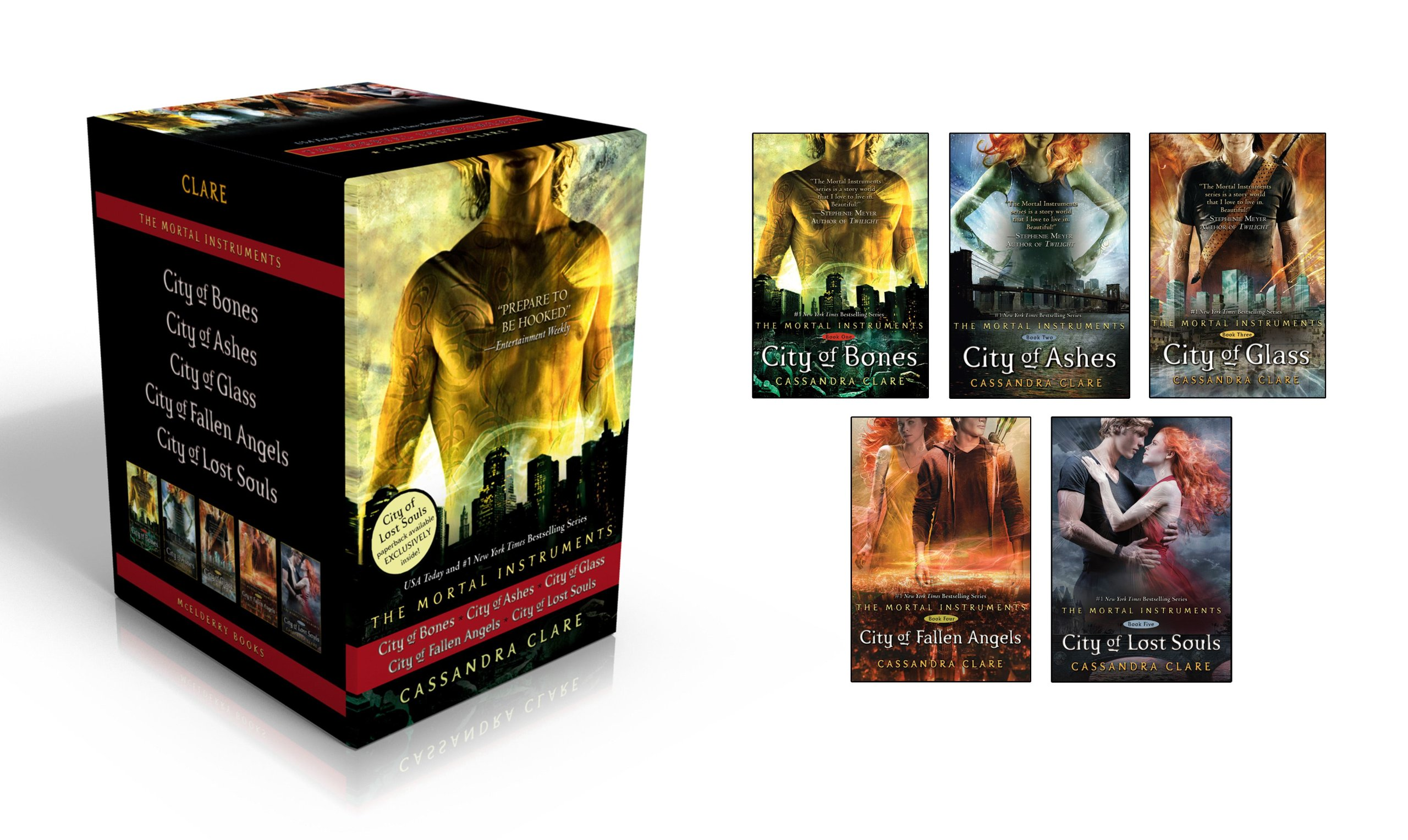 City of Bones/City of Ashes/City of Glass/City of Fallen Angels ...