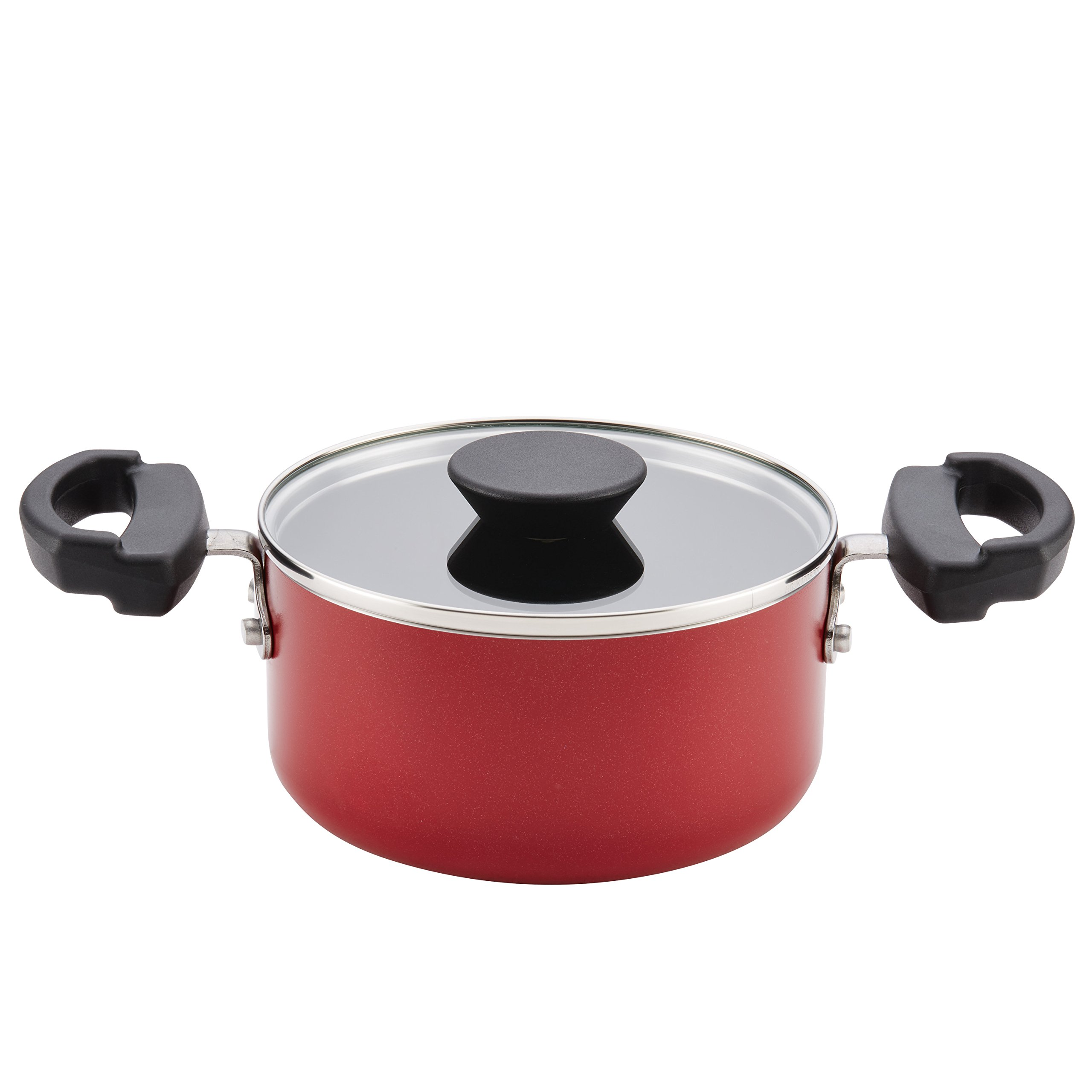 Farberware 20457 Neat Nest Covered Saucepot, One Size, Red