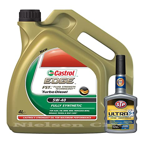 Castrol Edge 5W-40 FST Turbo Diesel - 4L + STP Ultra 5-in