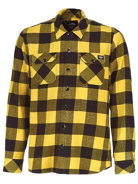 cdd7ab931f Dickies Sacramento Camicia Casual, Giallo (Yellow YL), X-Small Uomo