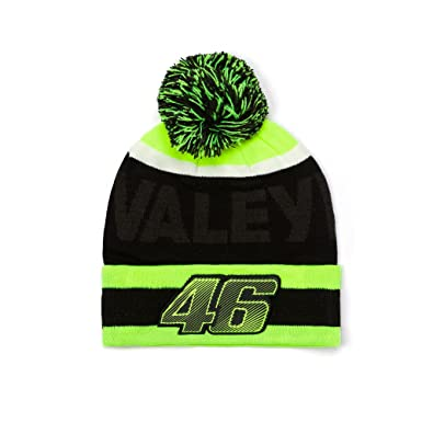 e45fc004074 VR46 Valentino Rossi MotoGP  VALEYELLOW  Bobble Beanie Hat - Black Yellow