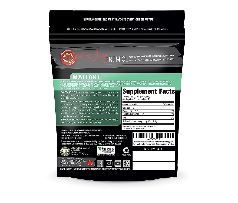 Maitake Mushroom Extract Powder 20 1 CONCENTRATION 4oz ORGANIC CONTAMINANT FREE TESTED