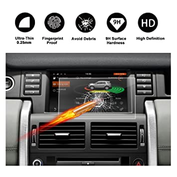 HD Clear Protective Film-8 Inch RUIYA Tempered Glass Screen Protector the Navigation System of 2014-2017 Land Rover Discovery Sport
