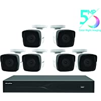LaView 8 Channel 5MP Business and Home Security Cameras System 1TB HDD Surveillance DVR with 6 5MP Color Night Vision Bullet Cameras
