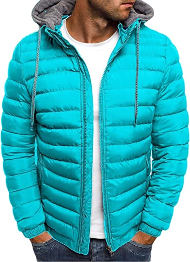 WSPLYSPJY Mens Coats Winter Warm Down Puffer Jacket with Hooded