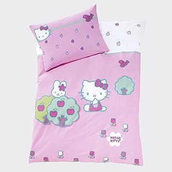 Cti 037073 Baby Bettwäsche Hello Kitty Rabbit 100 X 135 Und 40 X 60 Cm Mehrfarbig