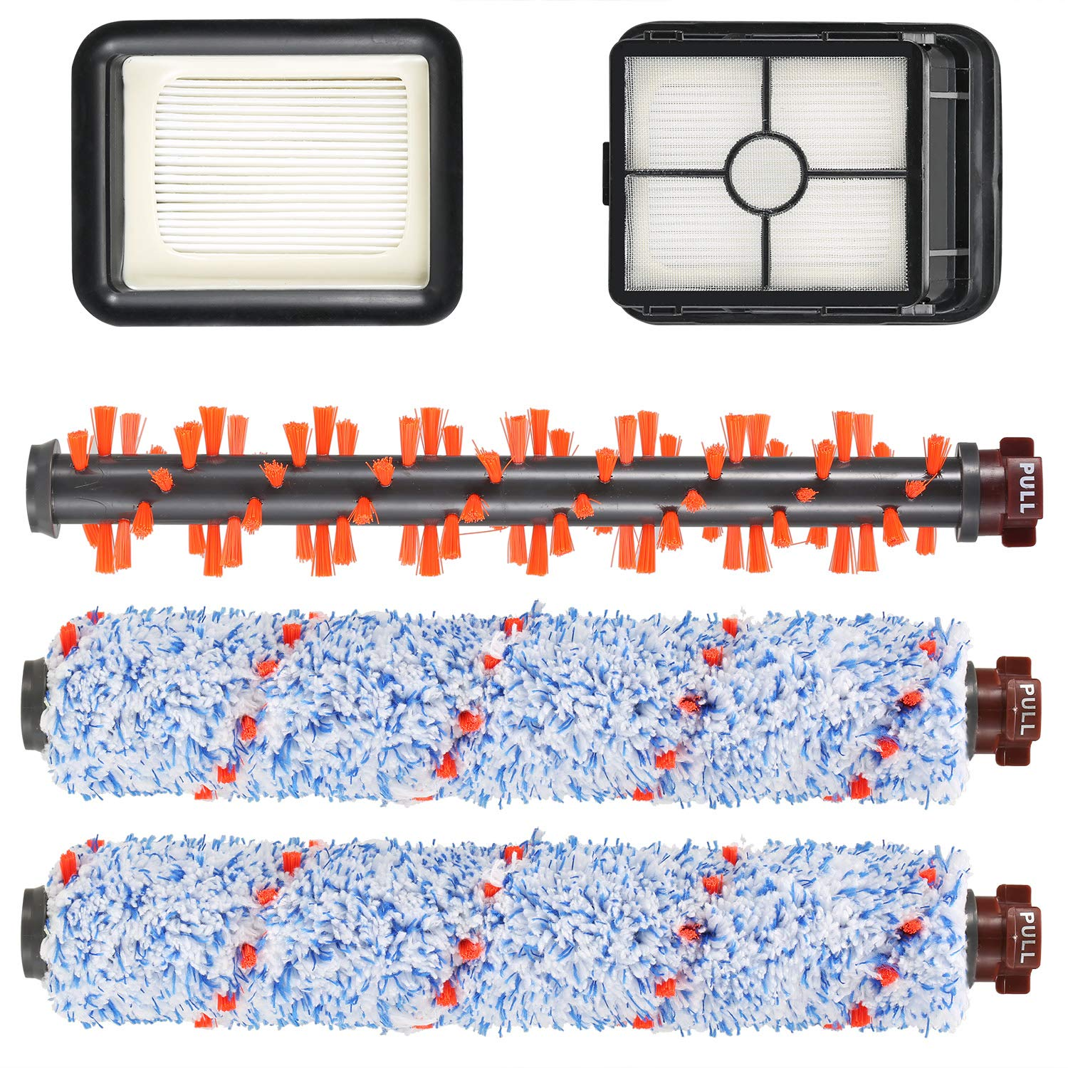 DIBBATU Compatible with Bissell CrossWave 1785/2306 Series-2 Pack Multi Surface 1868 Brush Roll and 1 Pack 1934 Area Rugs Brush Roll and 2 Pack 1866 Vacuum Filter