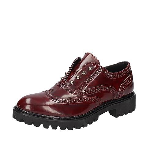 OLGA RUBINI - Mocasines de Piel para mujer violeta burdeos: Amazon.es: Zapatos y complementos