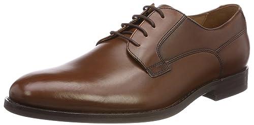 Geox U New Life E, Zapatos de Cordones Oxford para Hombre, Negro (Black), 39 EU
