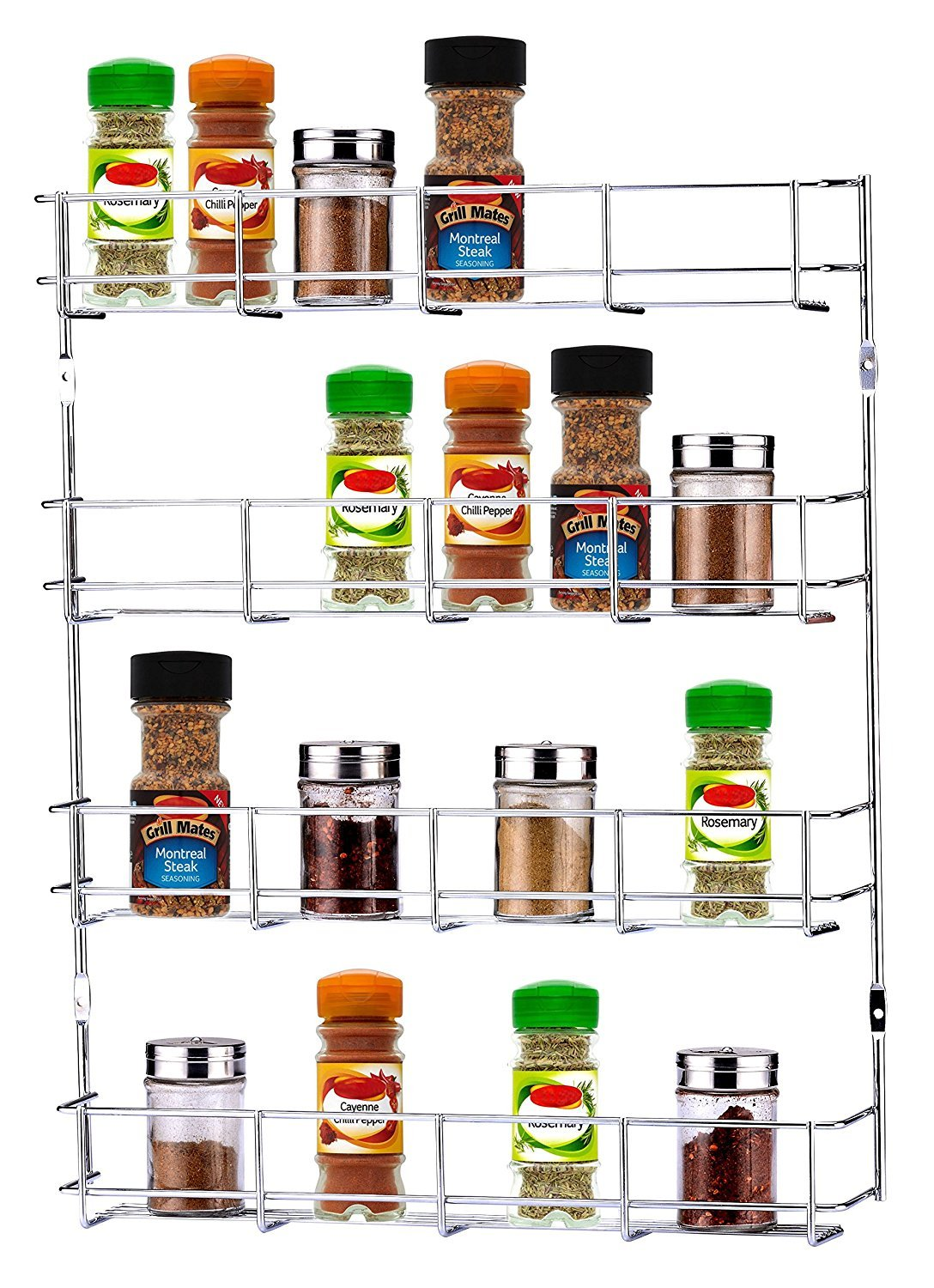 ASHLEY 4-Tier Spice Rack, Silver BB-SR010