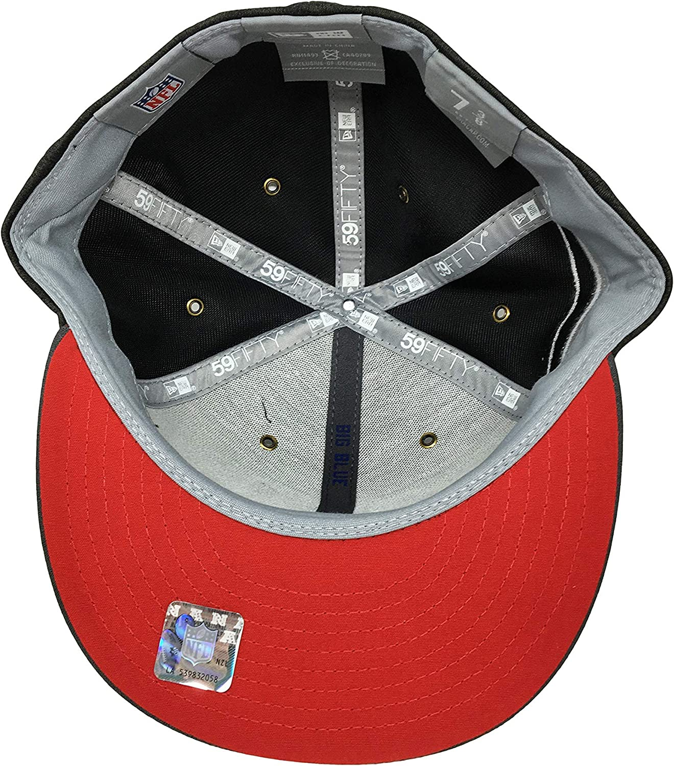 New Era New York Giants 59Fifty Fitted Hat Official NFL Flat Bill Cap 5950