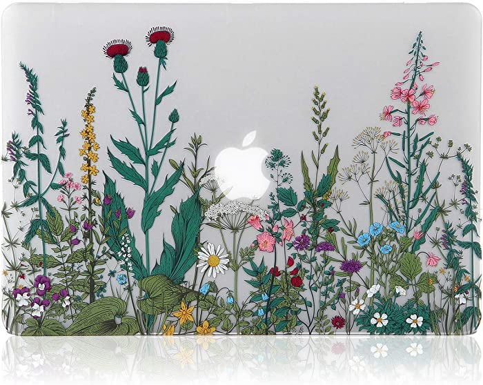 iDonzon MacBook Air 13 inch Case (A1466/A1369, 2010-2017 Release), 3D Effect Matte Clear See Through Hard Cover Only Compatible Older Version Mac Air 13.3 inch - Garden Flowers