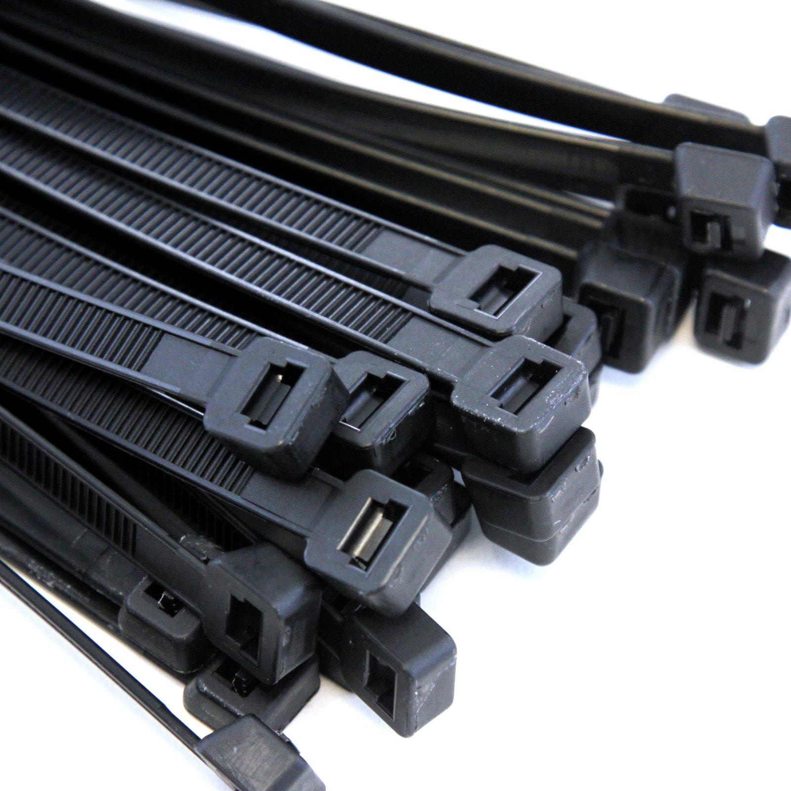 10,000 Heavy Duty 14'' 120 Pound Cable Zip Tie Down Strap Wire Nylon Wrap Black