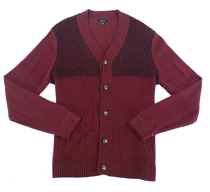 33f9f5f04be Alfani Men's Button-up Cardigan at Amazon Men's Clothing store: