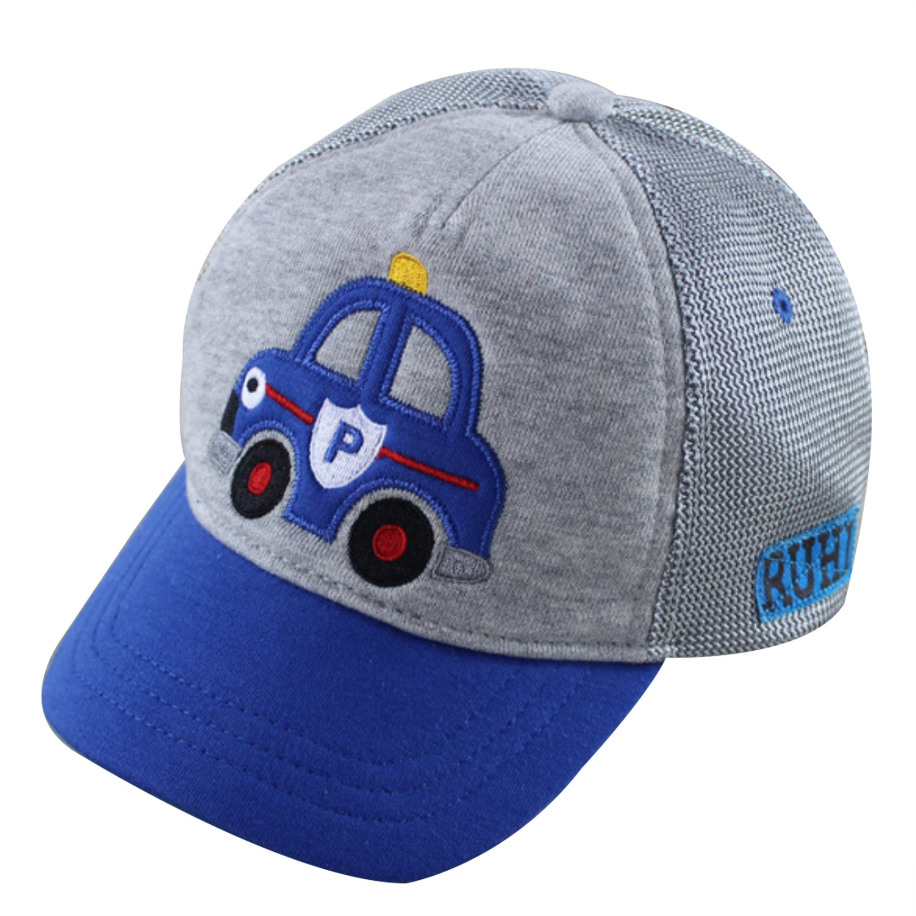 Home Prefer Toddler Boys Baseball Caps UV Sun Protection Hats Airy Mesh Sun Hat Gray XL