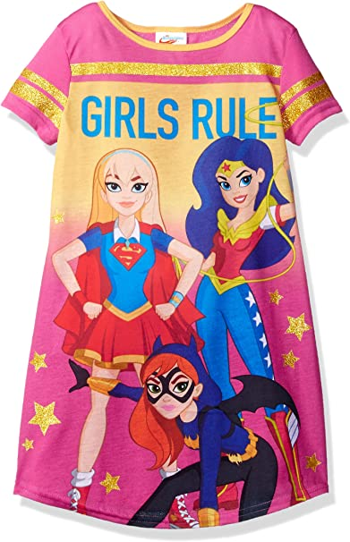 DC Comics Big Girls Dc Super Heroes-Wonder Woman Cotton 4 Pc Pajama Set