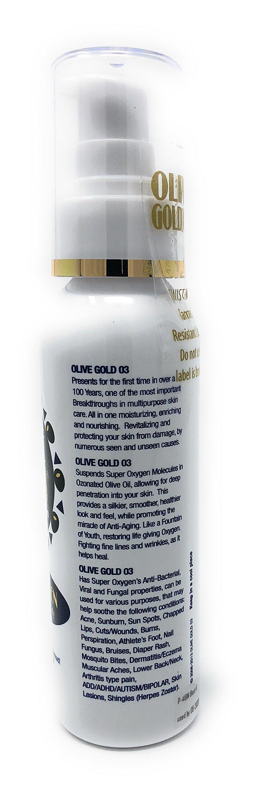 Olive Gold O3 Skin Care Lotion - Ozonated Olive Oil Super Oxygen (4oz) by Olive Gold O3 (Image #3)