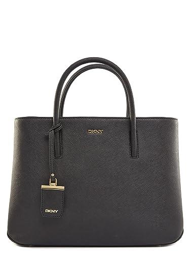 ba6fd6dfe1a DKNY Erin Black Leather Large Tote Bag Black Leather  Amazon.co.uk ...
