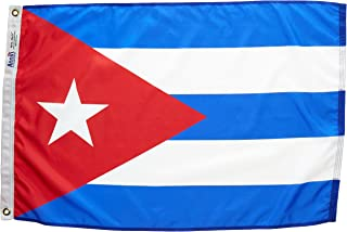 product image for Annin Flagmakers Model 191903 Cuba Flag Nylon SolarGuard NYL-Glo, 2x3 ft, 100% Made in USA to Official United Nations Design Specifications