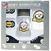 Pittsburgh Steelers Baby Essentials 5 Piece Newborn Infant Baby Shower Gift Set