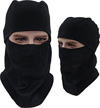 Dseap Multipurpose Balaclava Full Face Ski Mask Sports Helmet. (Black)