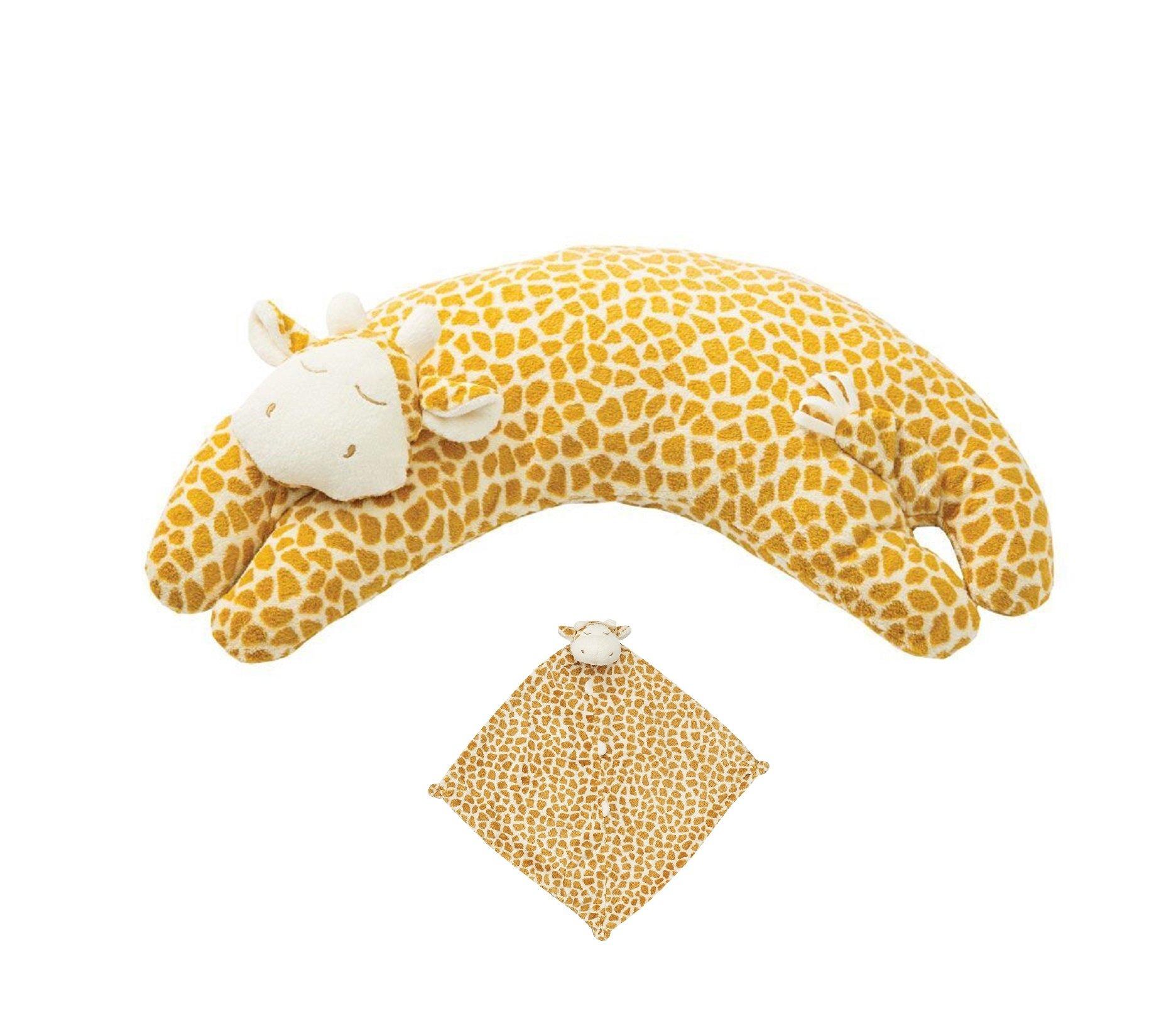 Angel Dear Baby Blankie and Pillow Gift Set, Brown Giraffe. by Angel Dear