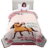 "Dreamworks Comforter, MJ9438, Microfiber, White/Pink, Twin Size 64"" x 86"""