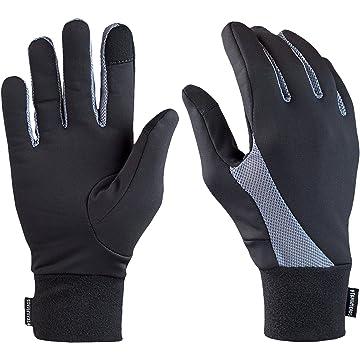 powerful TrailHeads Elements Touchscreen Running Gloves - black/grey