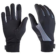 TrailHeads Elements Touchscreen Running Gloves - black/grey
