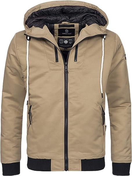 Navahoo Herren Winter Jacke sportliche Jacke wasserabweisend