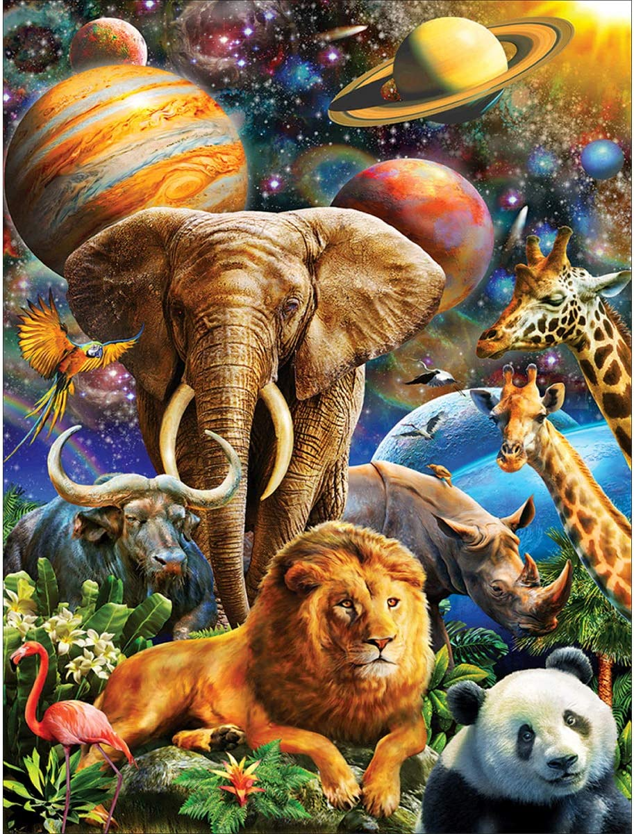 Full Drill Animals 5D Diamond Embroidery Painting Animal World Decor Excellent
