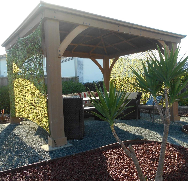 CAMODUXY Red de Camuflaje Toldo jardín, Caza Tiro al Bosque Acampada Protector Solar Sombra Fiesta Oculta Juegos Militares Decoraciones Fotografía,6x6m/20x20ft: Amazon.es: Hogar