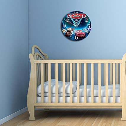 LaModaHome - Reloj de Pared Decorativo 100% MDF con Diseño de Dibujos Animados de Disney