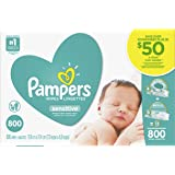 Pampers Baby Wipes Sensitive UNSCENTED 13X Pop-Top and Refill Multipack, 800 Count