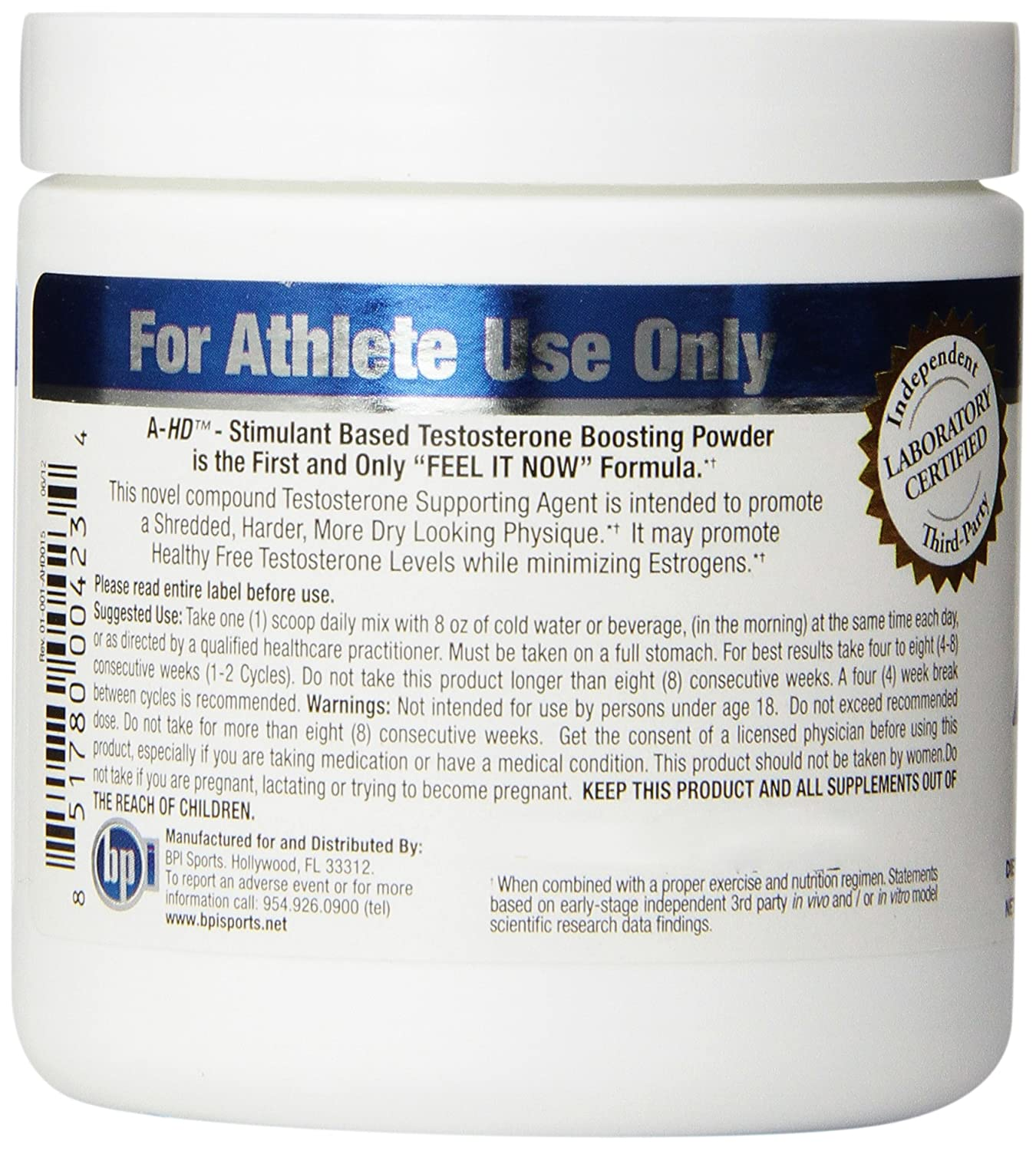 Amazon: Bpi Sports Ahd Diet Supplement, Blue Raspberry, 28 Servings,  Wt395 Oz: Health & Personal Care