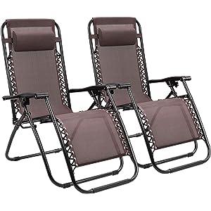 Amazon.com: Devoko Patio Zero Gravity Chair Outdoor Folding ...