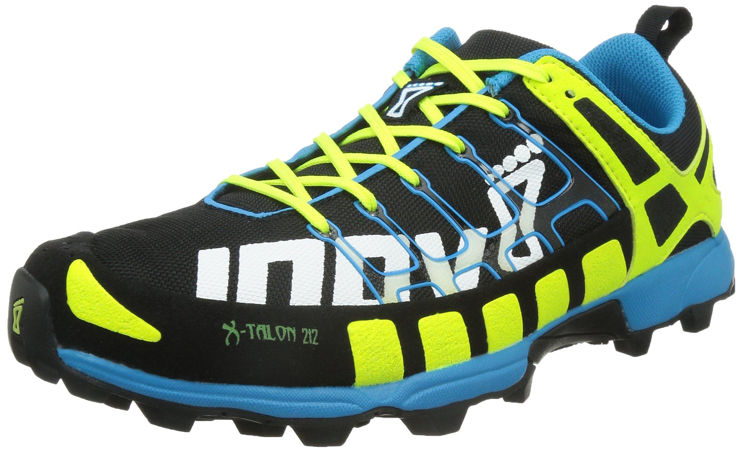Inov-8 X-Talon 212 Trail Unisex Running Shoe,Black/Yellow/Blue,11 M/12.5 W by Inov-8