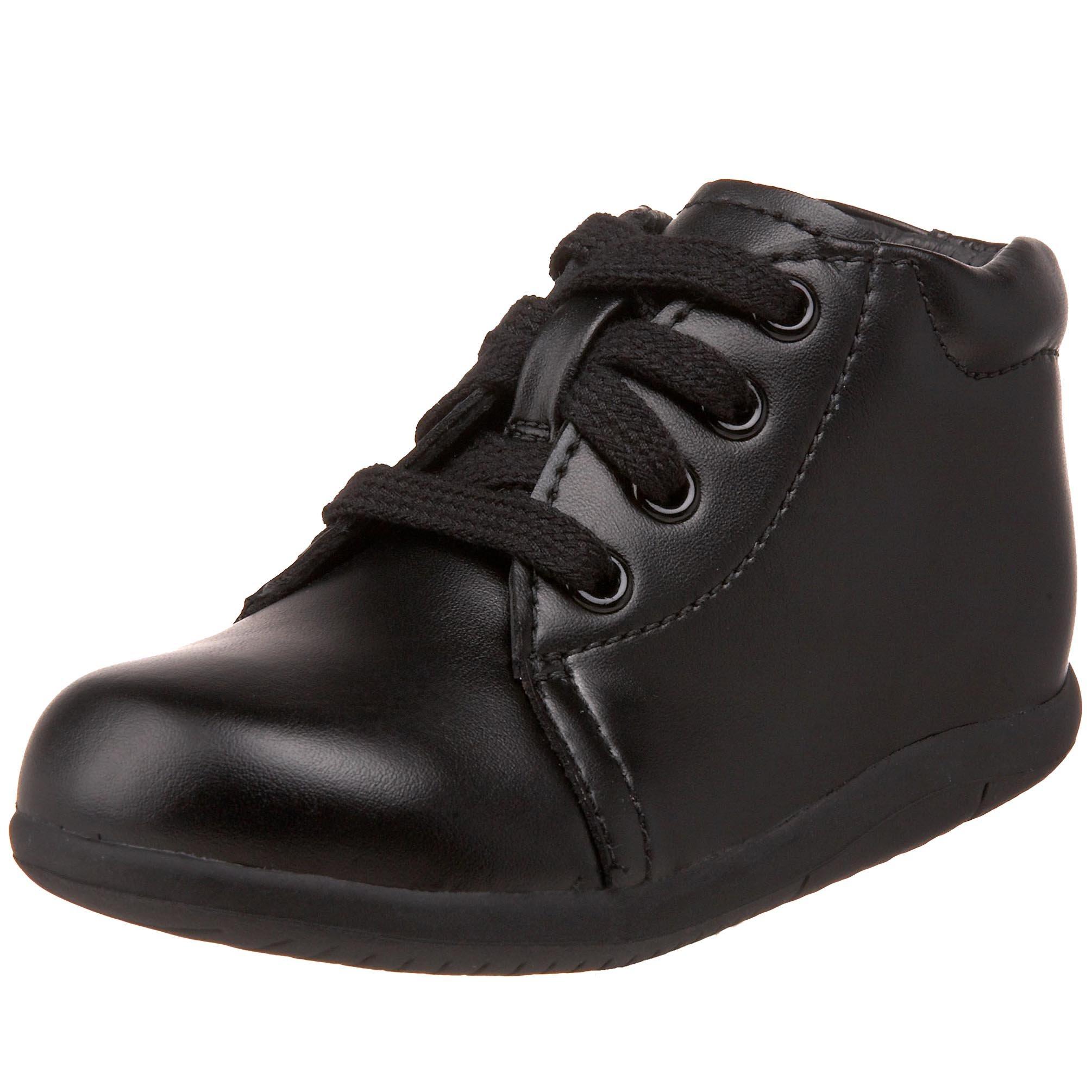 Stride Rite SRTech Elliot Bootie , Black Leather, 3 Infant W by Stride Rite
