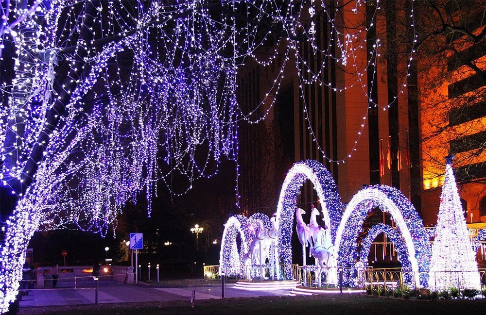 Luci natalizie per esterno a energia solare decorazione natalizia