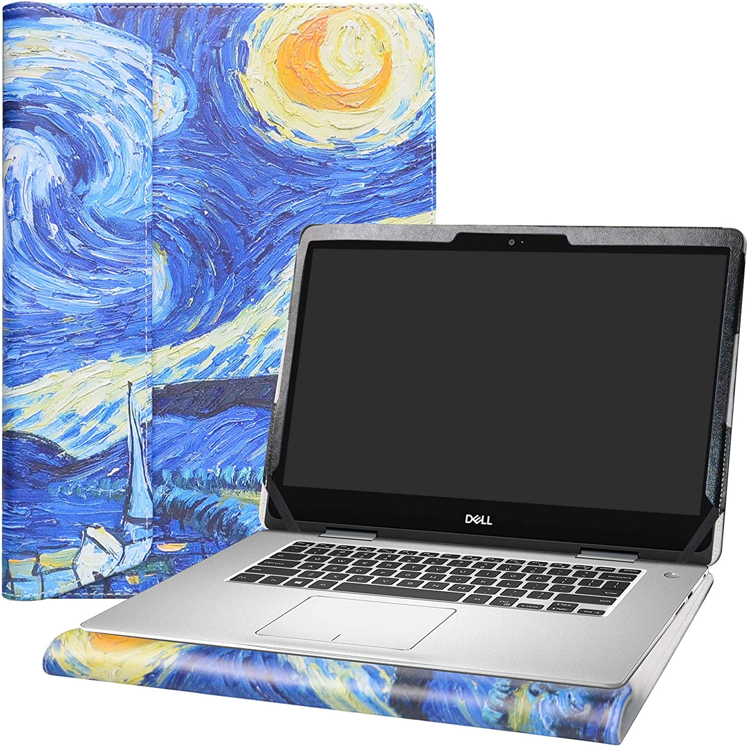 """Alapmk Protective Case Cover for 14"""" Dell Inspiron 14 2-in-1 5481 i5481 Laptop[Warning:Not fit Dell Inspiron 14 2-in-1 5482],Starry Night"""