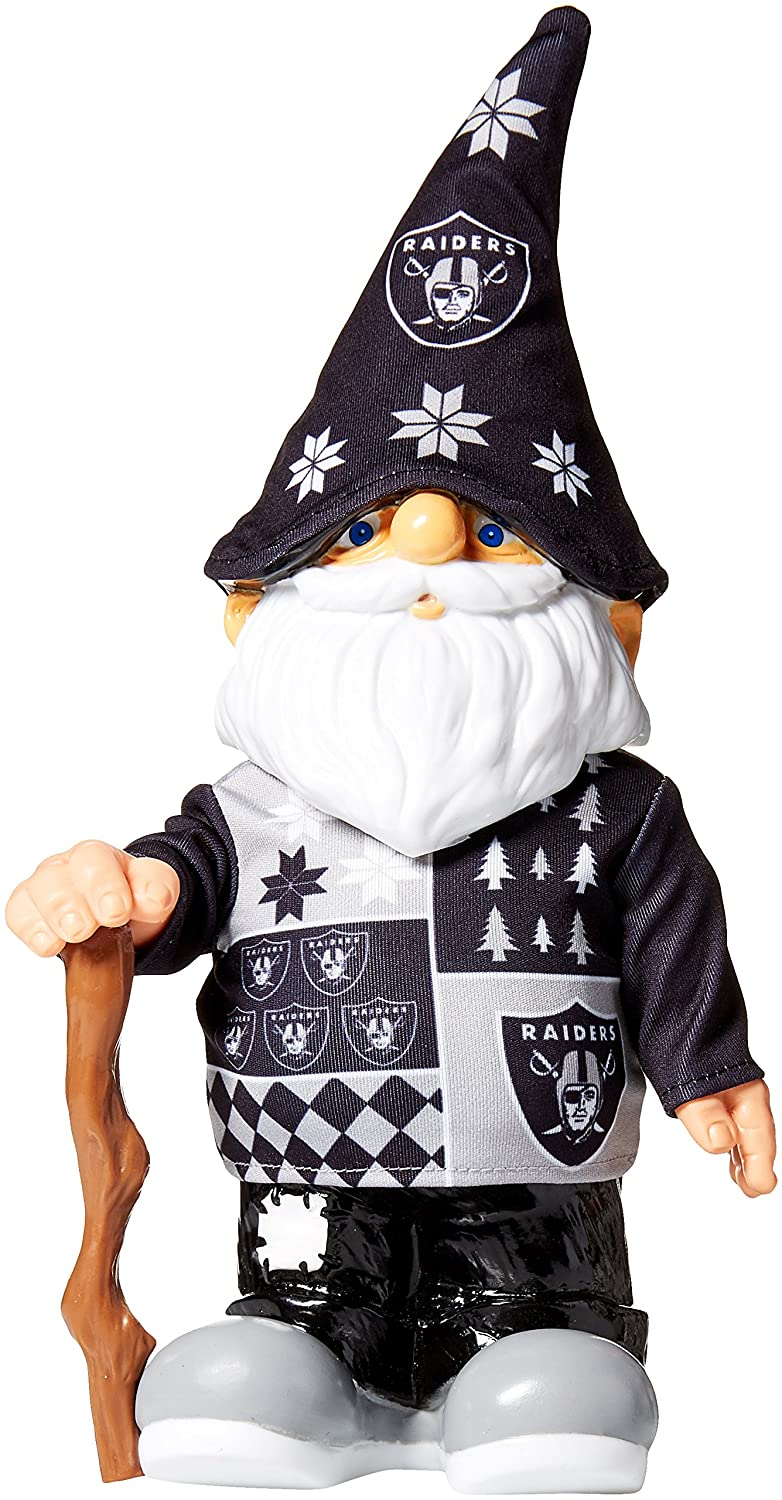 Amazon.com : NFL Oakland Raiders Real Ugly Sweater Gnome - Busy ...
