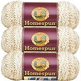 Lion Brand Homespun Yarn (3-Pack) Pearls 790-412