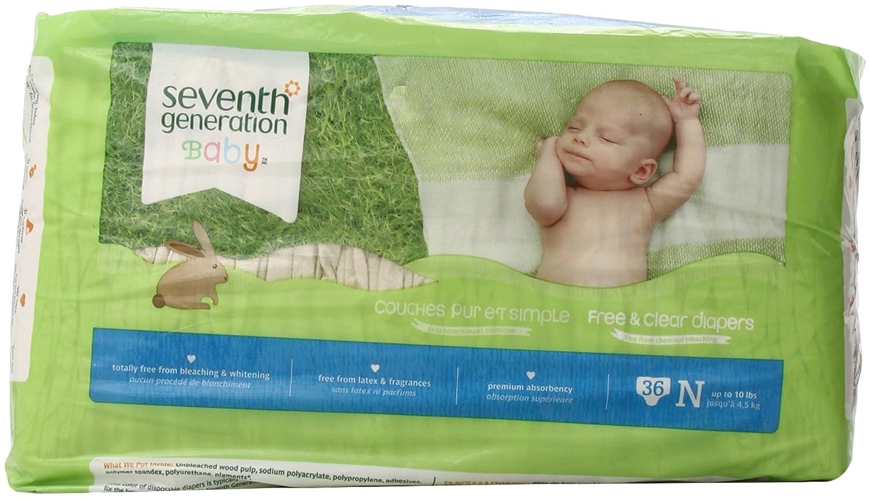 Amazon.com : Free & Clear Pañales Crudos - Recién Nacido - 36 ct : Baby