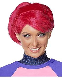 spirit halloween fortnite brite bomber wig - fortnite pink hair girl
