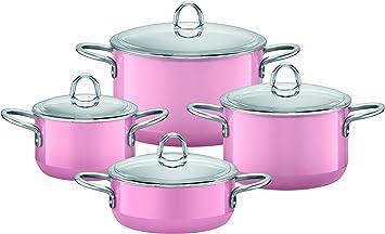 Silit 0015 1638 11 Bateria De Cocina 4 Piezas Color Rosa