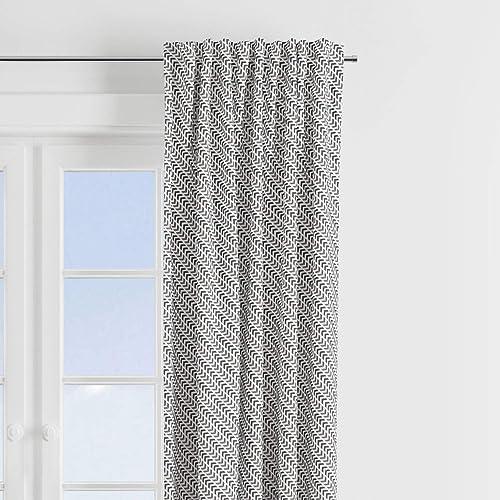 Bacati Construction Multicolor Boys Cotton Grey Track 2 Piece Curtain Panels